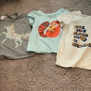 EUC Bundle of 3 Baby Girl T-shirt's